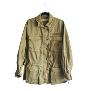 Free People Seize The Day Military Utility Jacket